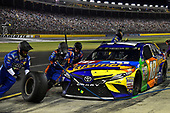 Monster Energy NASCAR Cup Series<br /> Monster Energy NASCAR All-Star Race<br /> Charlotte Motor Speedway, Concord, NC USA<br /> Saturday 20 May 2017<br /> Kyle Busch, Joe Gibbs Racing, M&M's Caramel Toyota Camry pits.<br /> World Copyright: Rusty Jarrett<br /> LAT Images<br /> ref: Digital Image 17CLT1rj_4707