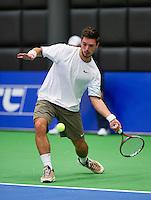 December 17, 2014, Rotterdam, Topsport Centrum, Lotto NK Tennis, Tim van Terheijden (NED)<br /> Photo: Tennisimages/Henk Koster