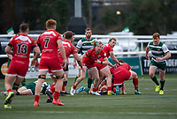 Will Homer of Jersey Reds during the Championship Cup Quarter final match between Ealing Trailfinders and Jersey Reds at Castle Bar , West Ealing , England  on 22 February 2020. Photo by Alan  Stanford / PRiME Media Images.