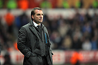 Pictured: Team manager Brendan Rodgers of Swansea.Tuesday, 31 January 2012<br /> Re: Premier League football Swansea City FC v Chelsea FCl at the Liberty Stadium, south Wales.