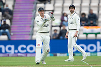 BJ Watling receives the outfield return during India vs New Zealand, ICC World Test Championship Final Cricket at The Hampshire Bowl on 19th June 2021