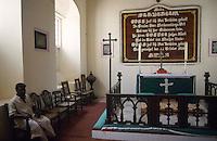 INDIA Tranquebar, in 18th century a former danish trading post in Tamil Nadu, New Jerusalem church, a lutheran church where german missionar Ziegenbalg has worked / INDIEN Tranquebar, war eine ehemalige daenische Handelsniederlassung im 18. Jh., Neue Jerusalem Kirche, die lutherische Kirche, wo der deutsche Missionar Ziegenbalg wirkte