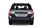 Straight rear view of 2017 Dacia Logan-MCV Laureate 5 Door Wagon Rear View  stock images