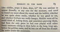 """BNPS.co.uk (01202) 558833. <br /> Pic: HeritageAuctions/BNPS<br /> <br /> Pictured: First edition errors - A passage reads """"from his friends far under under the mountains"""" on page 85. <br /> <br /> A rare first edition of JRR Tolkien's The Hobbit which has numerous spelling mistakes has sold for £46,000 ($60,000) after sparking a bidding war.<br /> <br /> Some 1,500 copies of the middle earth fantasy novel were published in September 1937, selling out by the end of the year.<br /> <br /> The book contains 16 misprints which were corrected in later editions by the publishers George Allen & Unwin Ltd.<br /> <br /> This example, which is in its colourful original dust jacket, was sold with Heritage Auctions, of Dallas, Texas.<br /> <br /> It had been expected to sell for £15,000 but fetched three times its estimate."""