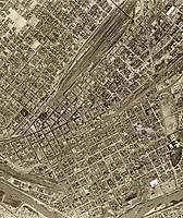 historical aerial photograph El Paso, Texas, 1950