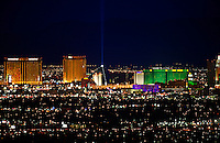 Las Vegas Strip at night, Nevada.