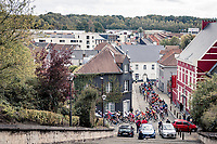 peloton starting their climb up the Alsemberg<br /> <br /> 60th De Brabantse Pijl 2020 - La Flèche Brabançonne (1.Pro)<br /> 1 day race from Leuven to Overijse (BEL/197km)<br /> <br /> ©kramon