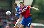 St Johnstone v Rangers... 30.07.11   SPL Week 2.Marcus Haber and Dorin Goian.Picture by Graeme Hart..Copyright Perthshire Picture Agency.Tel: 01738 623350  Mobile: 07990 594431
