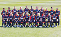 Essex CCC players pose for a team photograph in their Friends Life Twenty 20 Kit - Essex County Cricket Club Press Day at the Essex County Ground, Chelmsford, Essex - 02/04/13 - MANDATORY CREDIT: Gavin Ellis/TGSPHOTO - Self billing applies where appropriate - 0845 094 6026 - contact@tgsphoto.co.uk - NO UNPAID USE.
