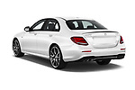 Car pictures of rear three quarter view of 2017 Mercedes Benz E Class AMG 43 4 Door Sedan angular rear