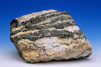 Banded Gneiss, Northwest Greenland. Gneiss is a metamorphic rock.