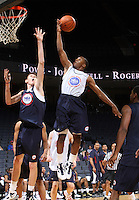 Jahii Carson at the NBPA Top100 camp June 17, 2010 at the John Paul Jones Arena in Charlottesville, VA. Visit www.nbpatop100.blogspot.com for more photos. (Photo © Andrew Shurtleff)