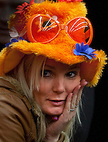 12-02-12, Netherlands,Tennis, Den Bosch, Daviscup Netherlands-Finland, supporter