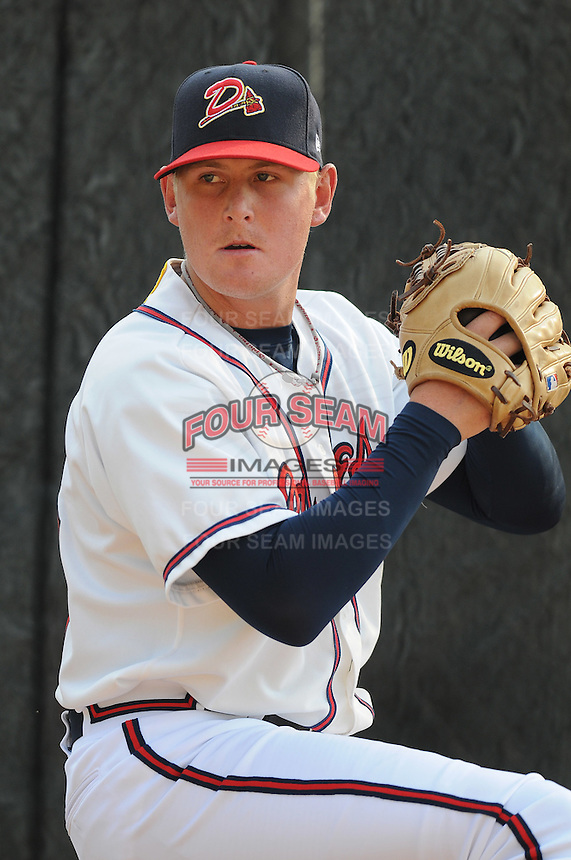 June 19, 2008: LHP Steven Kent (30) of the Danville Braves, rookie Appalachian League affiliate of the Atlanta Braves, prior to a game against the Burlington Royals at Dan Daniel Memorial Park in Danville, Va. Photo by:  Tom Priddy/Four Seam Images