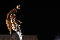 Vasco Rossi sul palco del tradizionale concerto del Primo Maggio organizzato da Cgil, Cisl e Uil in piazza San Giovanni, Roma, 1 maggio 2009..Italian songwriter songwriter Vasco Rossi performs on stage during the traditional May Day concert in St. John Lateran's Square, Rome, 1 may 2009..UPDATE IMAGES PRESS/Riccardo De Luca..