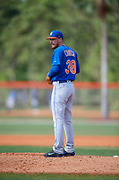 New York Mets pitcher Andrew Church (38) during a Minor League Spring Training intrasquad game on March 29, 2018 at the First Data Field Complex in St. Lucie, Florida.  (Mike Janes/Four Seam Images)