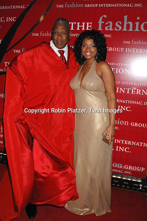 Andre Leon Talley and Jennifer Hudson in Carmen Marc Valvo..at The Fashion Group International's Night of Stars on ..October 25, 2007 at Ciprianis in New York. ..Robin Platzer, Twin Images