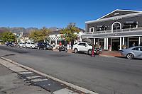 South Africa, Franschhoek.  Street Scene.