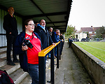 Heanor fans. Hucknall Town v Heanor Town, 17th October 2020, at the Watnall Road Ground, East Midlands Counties League. Photo by Paul Thompson.