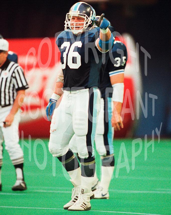 Don Moen Toronto Argonauts 1991 Copyright photograph Scott Grant