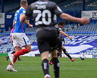 Reece James of Doncaster Rovers scores the first goal during Portsmouth vs Doncaster Rovers, Sky Bet EFL League 1 Football at Fratton Park on 17th October 2020