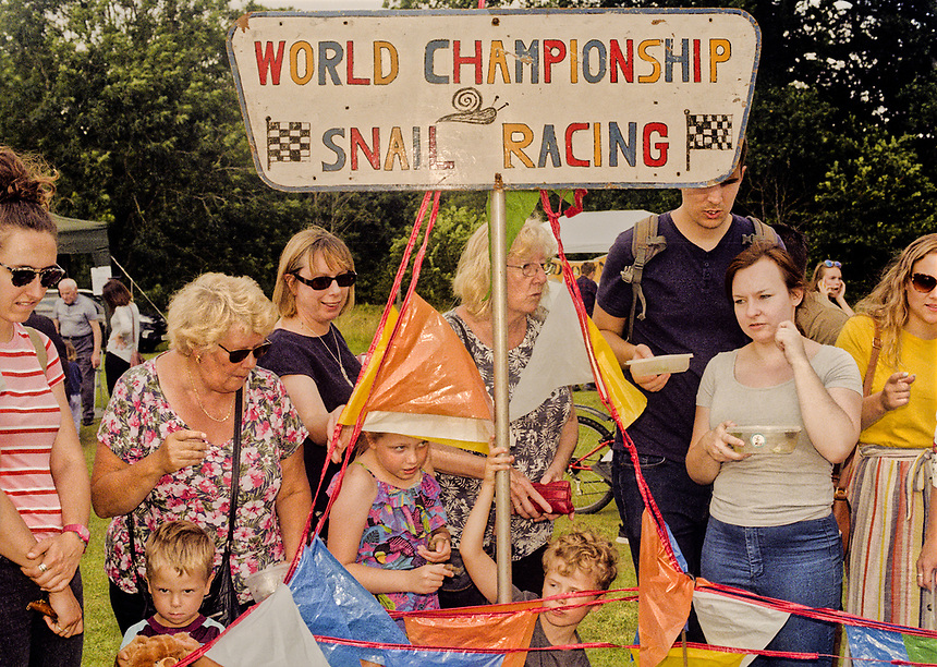 2019 World Snail racing contest in Congham, Norfolk.