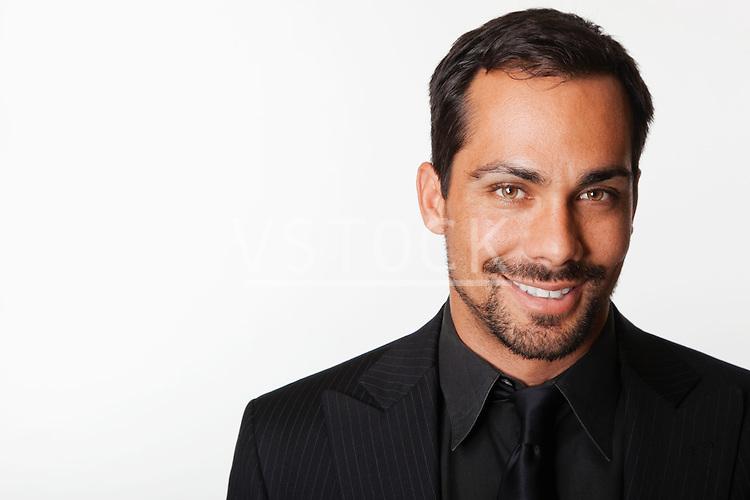 USA, California, Fairfax, Studio portrait of man dressed in black