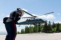 President Donald J. Trump arrives Charlevoix, Quebec, Fairmont Le Manoir Richelieu Landing Zone.