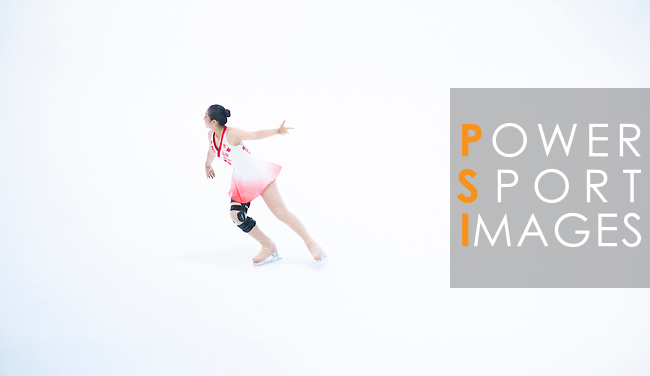 Po Yan Yuen during the Asian Junior Figure Skating Challenge 2015 on October 07, 2015 in Hong Kong, China. Photo by Moses Ng/ Power Sport Images