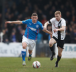 Fraser Aird with Ayr's Craig Malcolm