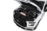 Car Stock 2016 Ford F 150 XL 2 Door Pickup Engine  high angle detail view