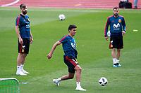 Spain's Gerard Pique, Rodri Hernandez and Jordi Alba during training session. May 29,2018.(ALTERPHOTOS/Acero) /NortePhoto.com