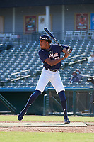 James Wood (29) participates in the home run derby before the Baseball Factory All-Star Classic at Dr. Pepper Ballpark on October 4, 2020 in Frisco, Texas.  James Wood (29), a resident of Olney, Maryland, attends IMG Academy.  (Mike Augustin/Four Seam Images)