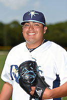 GCL Rays pitcher Mike Franco (10) poses for a photo after a game against the GCL Red Sox on June 24, 2014 at Charlotte Sports Park in Port Charlotte, Florida.  GCL Red Sox defeated the GCL Rays 5-3.  (Mike Janes/Four Seam Images)