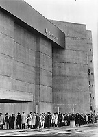 1967 FILE PHOTO - ARCHIVES -<br /> <br /> Long line-ups are the rule outside Labyrinth even on the coolest days. Since Expo opened it has been running at its capacity of 7;200 people a day; making it one of the busiest and most successful exhibits at the fair. <br /> <br /> PHOTO : Reg INNELL - Toronto Star Archives - AQP
