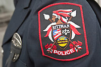 Rittman Police badge is seen during a police memorial parade in Ottawa Sunday September 26, 2010.