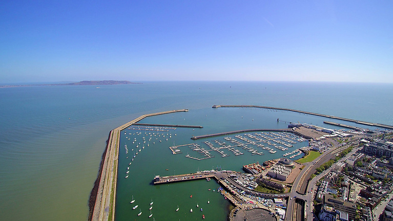 The INSS's sailing waters at Dun Laoghaire Harbour