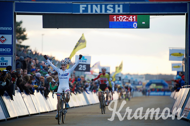 race winner: Lars van der Haar (NLD)<br /> <br /> UCI Worldcup Heusden-Zolder Limburg 2013