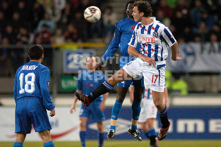 heerenveen - levski sofia 14-12-2005  uefa cup seizoen 2005-2006 arnold bruggink wint kopduel