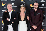 Oscar Terol, Maria Leon and Jon Plazaola attends to the Feroz Awards 2017 in Madrid, Spain. January 23, 2017. (ALTERPHOTOS/BorjaB.Hojas)