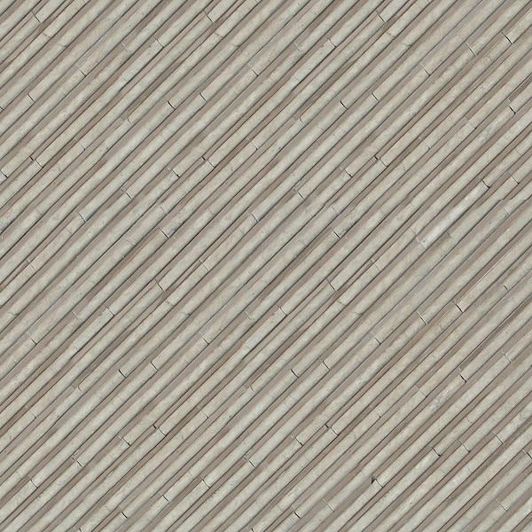 Corduroy, a hand-cut stone mosaic, shown in Venetian honed Palomar and polished Driftwood, is part of the Tissé® collection for New Ravenna.