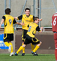 :: LIVINGSTON'S LIAM FOX CELEBRATES AFTER HE SCORES THE SECOND ::