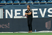 FOXBOROUGH, MA - JULY 9: Toronto FC II coach Mike Munoz during a game between Toronto FC II and New England Revolution II at Gillette Stadium on July 9, 2021 in Foxborough, Massachusetts.