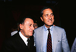 """ALBERTO SORDI CON FRANCESCO RUTELLI<br /> PREMIERE """"INCONTRI PROIBITI"""" CINEMA EMPIRE ROMA 1998"""