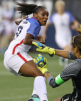 Seattle, WA - Thursday July 27, 2017: Crystal Dunn during a 2017 Tournament of Nations match between the women's national teams of the United States (USA) and Australia (AUS) at CenturyLink Field.