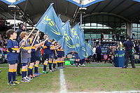 20130317 Copyright onEdition 2013©.Free for editorial use image, please credit: onEdition..The LV= Guard of Honour before the LV= Cup Final between Harlequins and Sale Sharks at Sixways Stadium on Sunday 17th March 2013 (Photo by Rob Munro)..For press contacts contact: Sam Feasey at brandRapport on M: +44 (0)7717 757114 E: SFeasey@brand-rapport.com..If you require a higher resolution image or you have any other onEdition photographic enquiries, please contact onEdition on 0845 900 2 900 or email info@onEdition.com.This image is copyright onEdition 2013©..This image has been supplied by onEdition and must be credited onEdition. The author is asserting his full Moral rights in relation to the publication of this image. Rights for onward transmission of any image or file is not granted or implied. Changing or deleting Copyright information is illegal as specified in the Copyright, Design and Patents Act 1988. If you are in any way unsure of your right to publish this image please contact onEdition on 0845 900 2 900 or email info@onEdition.com