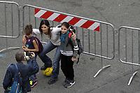 La sindaca Virginia Raggi in bicicletta durante la manifestazione BICI IN PIAZZA - ROMA