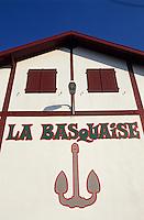 """Europe/France/Aquitaine/64/Pyrénées-Atlantiques/Ciboure: Détail coopérative de pêcheurs """"la Basquaise"""" sur le port"""