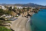 ESP, Spanien, Andalusien, Provinz Málaga, Costa del Sol, Nerja: Strand, Playa de Calahonda | ESP, Spain, Andalusia, Costa del Sol, Nerja: beach, Playa de Calahonda