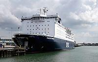 Nederland -  IJmuiden - 2019. De Princess Seaways is een schip van de Deense rederij DFDS Seaways. Het is een schip dat de route Newcastle upon Tyne naar IJmuiden vaart. Passagiers - cargoschip.   Foto Berlinda van Dam / Hollandse Hoogte